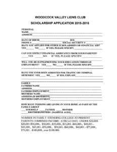 thumbnail of Woodcook Valley Lions Club Scholarship 2016