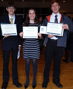 Three Model UN award winners