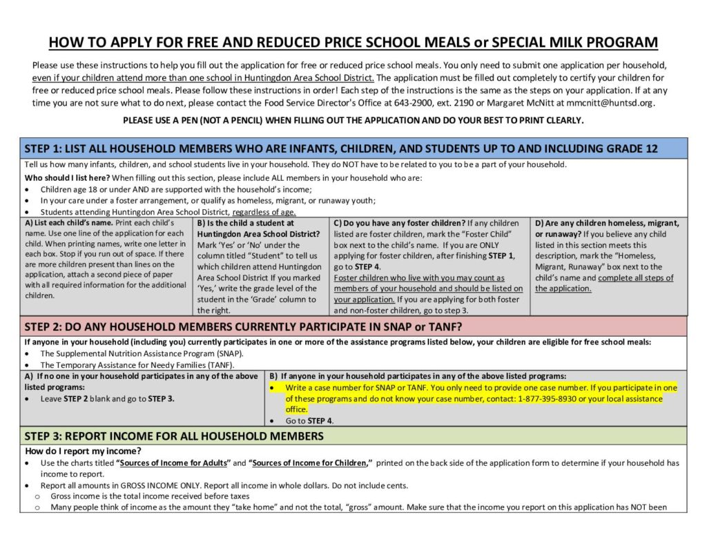 thumbnail of PDE-SNP-632b – MBM Paper 2017-2018 PA Free & Reduced Price Meals-Special Milk Household App Instructions –