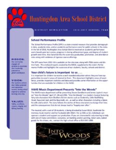 thumbnail of Huntingdon Area School District Newsletter 2016-17