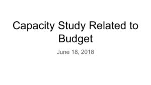 thumbnail of Capacity Study & Effects on Taxation decisions