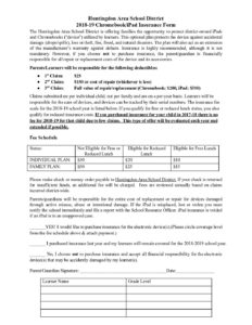 thumbnail of iPad Insurance Form 2018-19