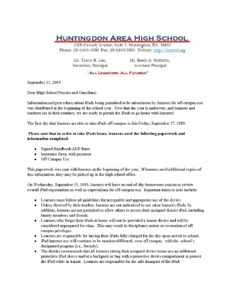 thumbnail of HAHS iPad Off-Campus Use Memo