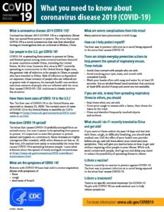 thumbnail of What you need to know about COVID-19 Coronavirus Disease