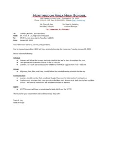 thumbnail of HAHS School Update Memo_ Remote Learning for 1_26_21