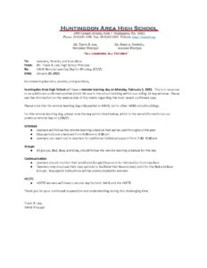 thumbnail of _HAHS School Update Memo_ Remote Learning for 2_1_21