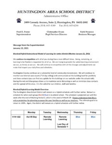 thumbnail of Message from the Superintendent January 19, 2021 – Google Docs