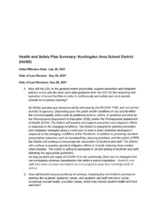 thumbnail of Health and Safety Plan Summary