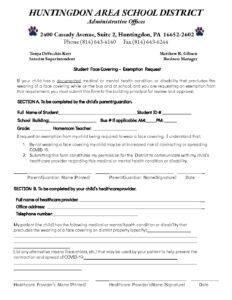 thumbnail of HASD Student Face Covering Exemption Form