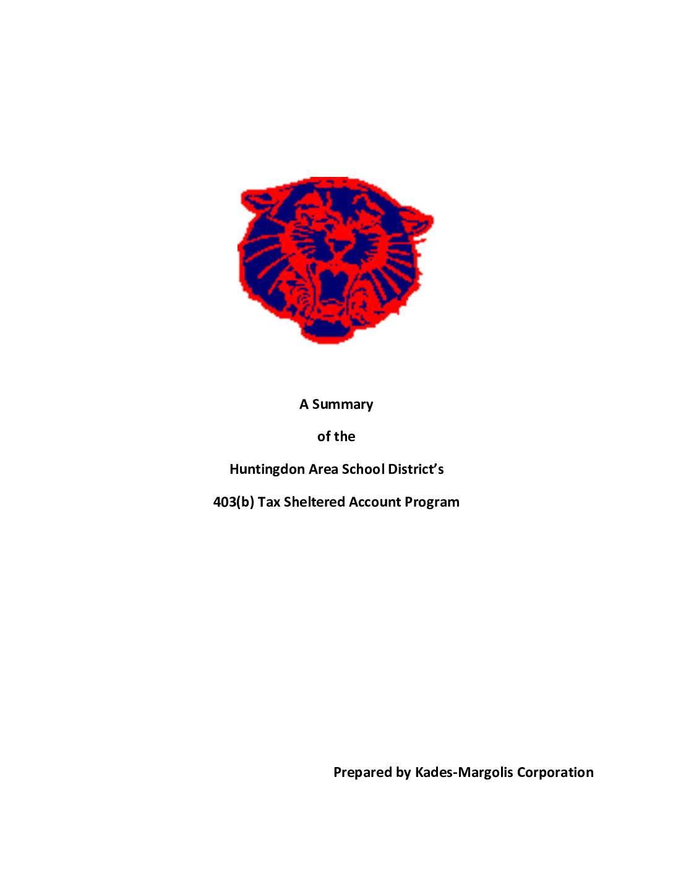Huntingdon Area SD Summary Plan Document 2017 – Huntingdon